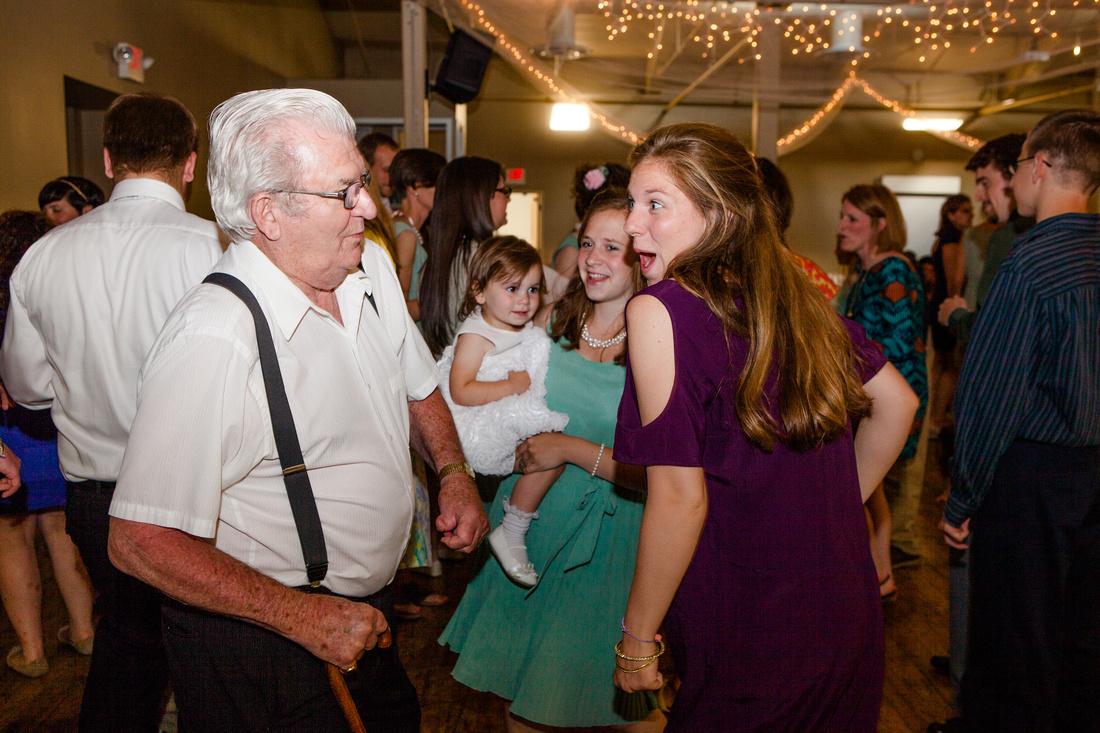 Grandpa breaking it down on the dance floor