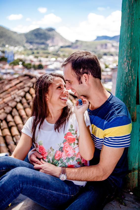 couple on location portrait