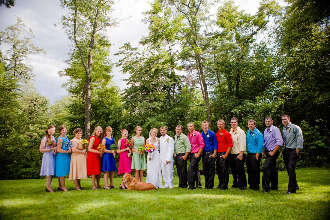 wedding party groomsmen bridesmaids outdoor wedding photography harrisburg central pennsylvania rose finley the focus photography
