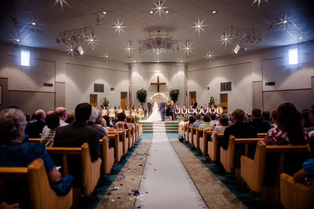 Bride and Groom Church wedding
