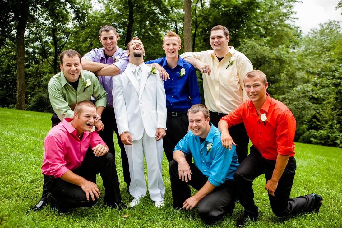 groom groomsmen wedding day rose finley the focus photography