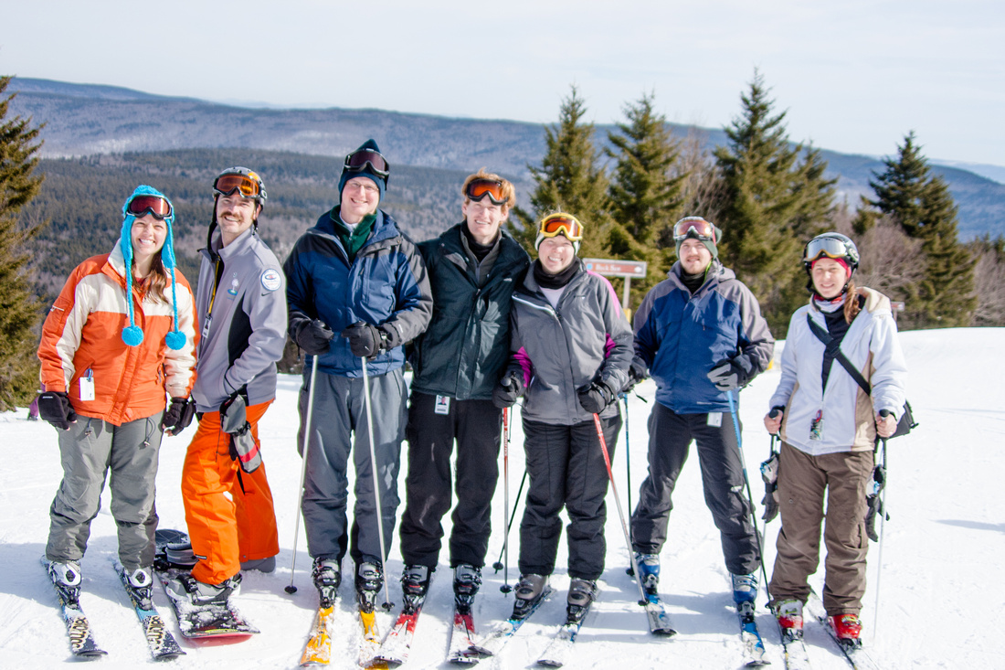 Group picture at snowshoe mountain