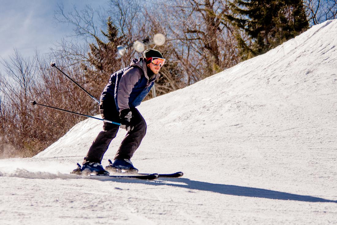 Skiing snowshoe slopes