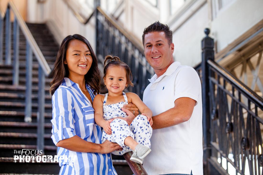 Lancaster train station family photo shoot