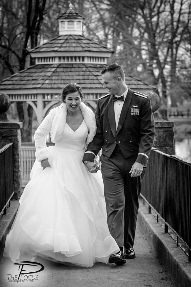 bride and groom portraits longs park Lancaster PA