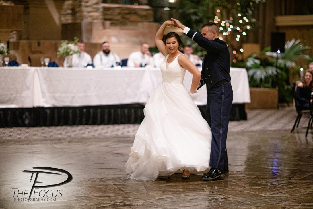 bride and groom dancing reception at eden resort Lancaster, PA