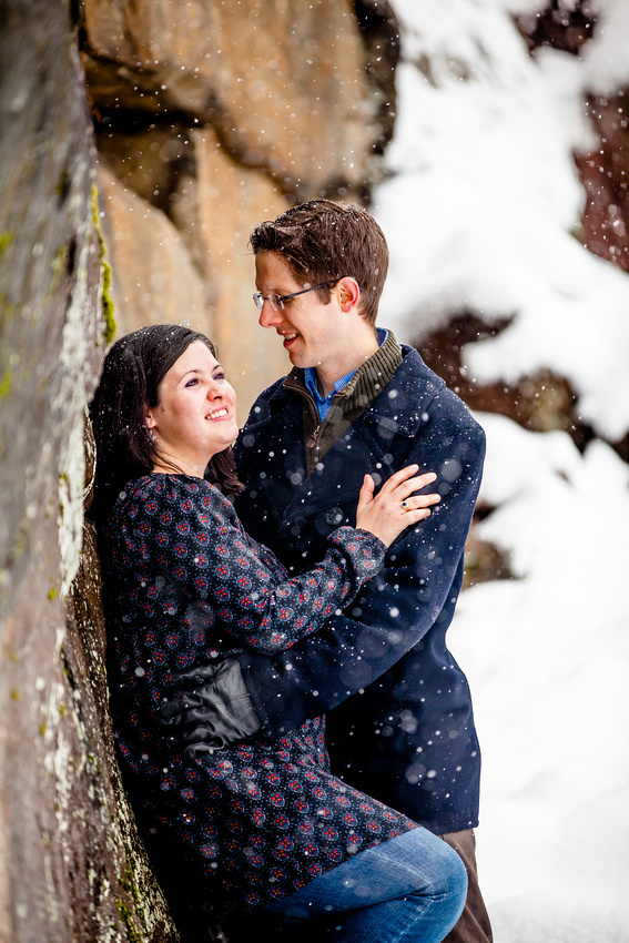 portraits in the snow