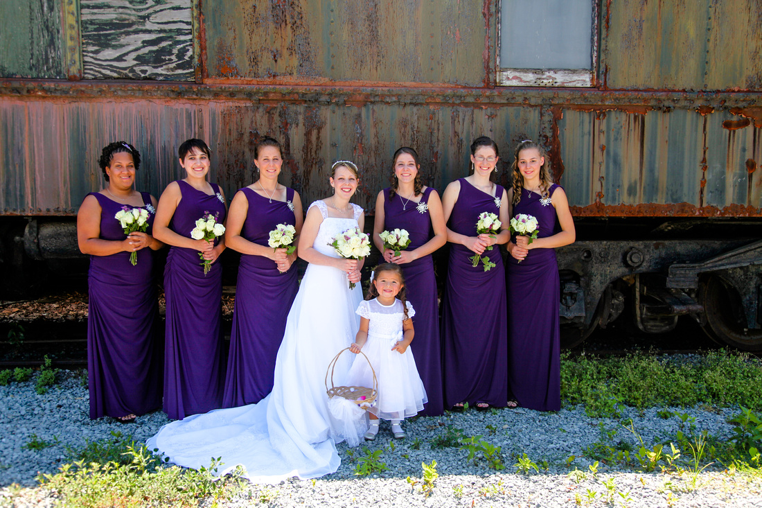bridesmaids group shot