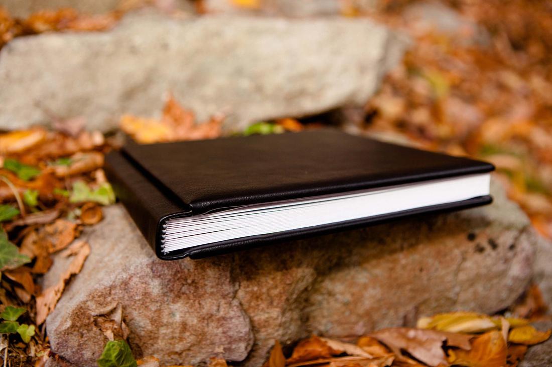 Leather bound wedding album