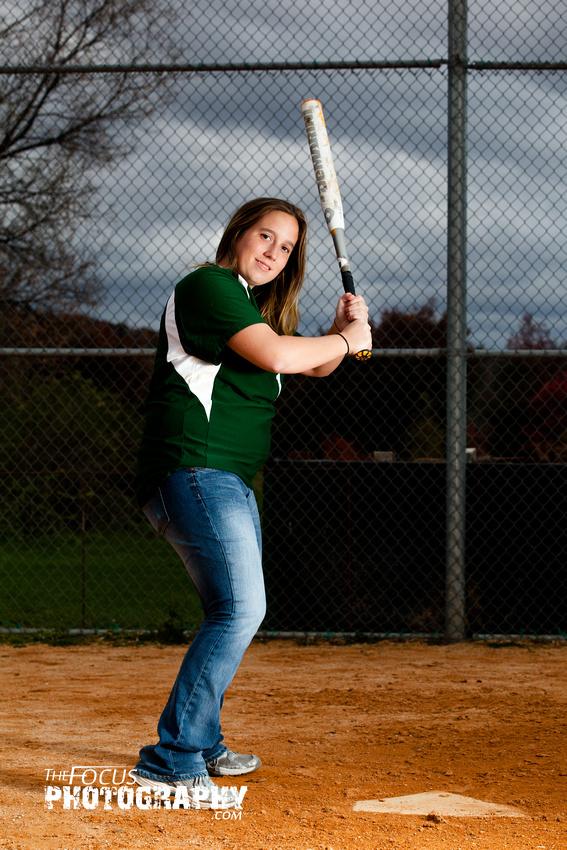 softball senior portrait