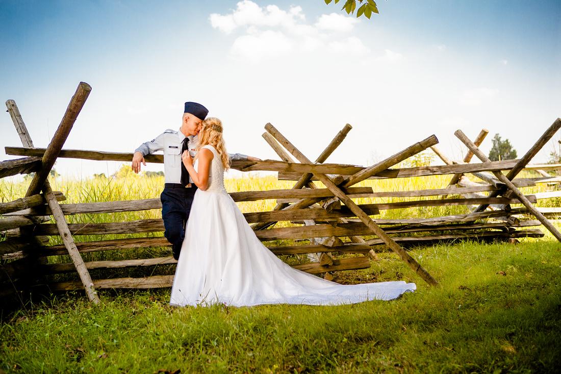 gettysburg photo shoot bride and groom