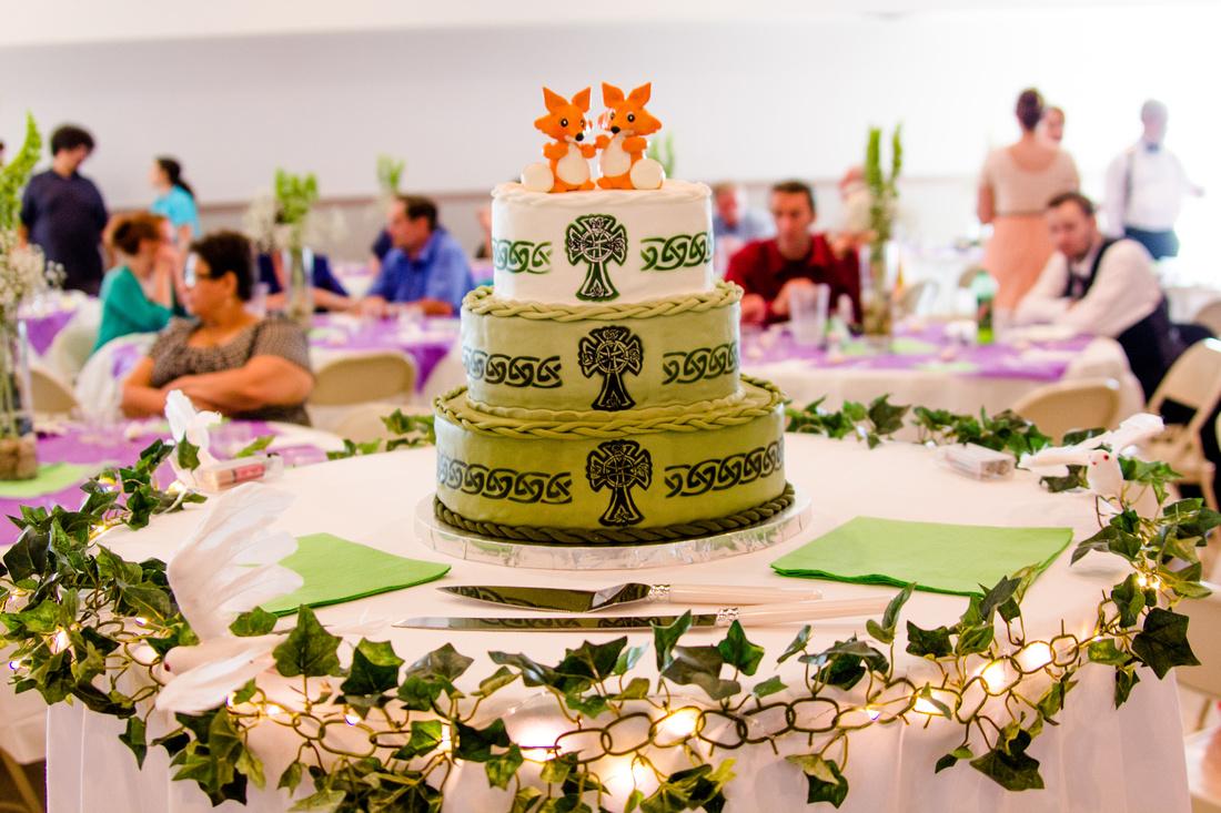 celtic fox wedding cake cakes by Mara