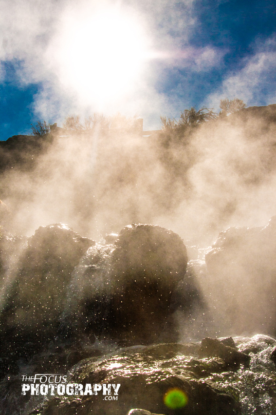 hot springs steam