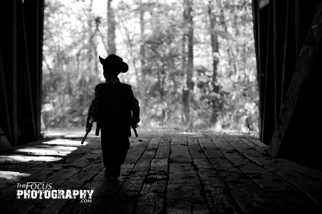 Little boy cowboy photo shoot