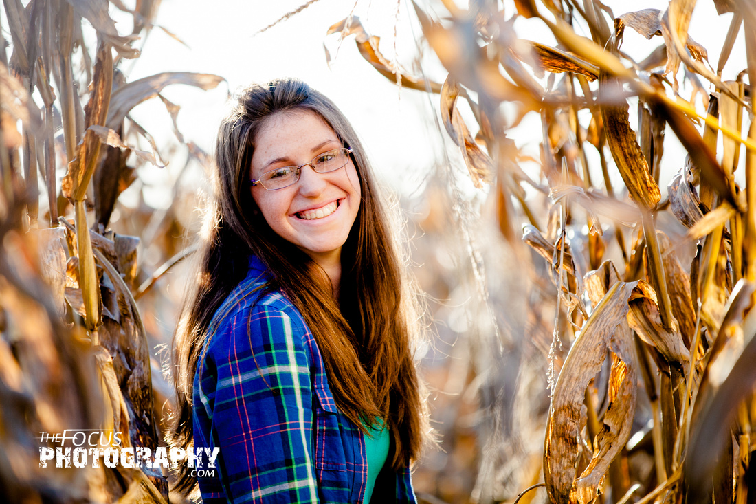 Senior portrait in field