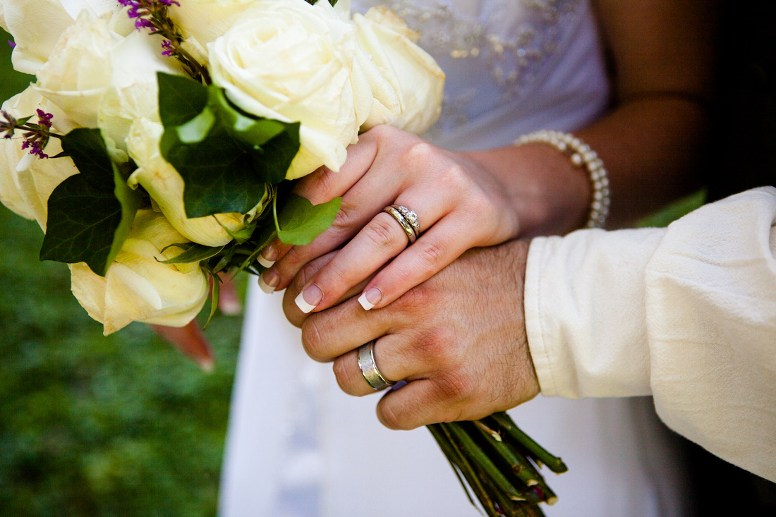 ring shot with the flowers