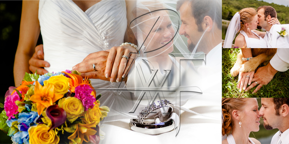custom design wedding album