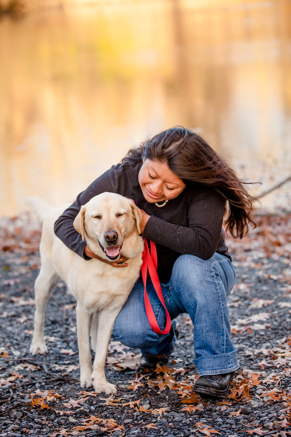 lab Dog and Owner portrait