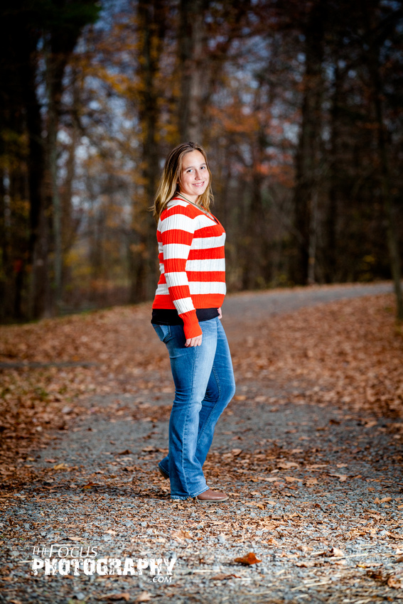 fall senior portrait
