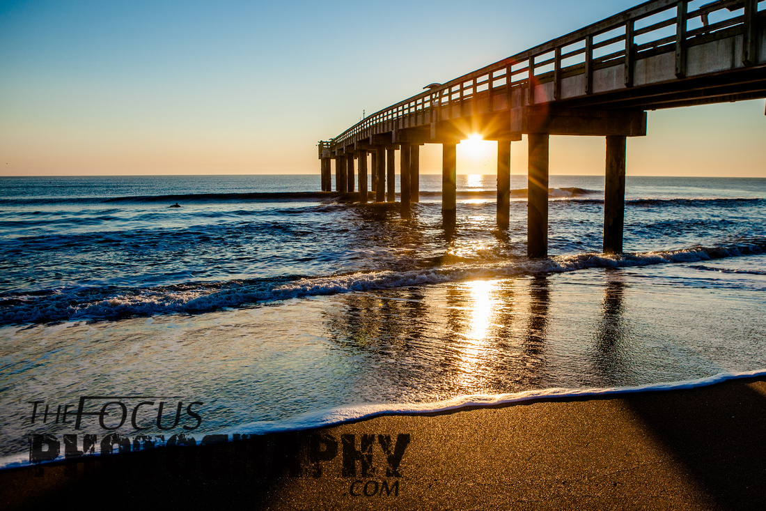sunrise and a pier