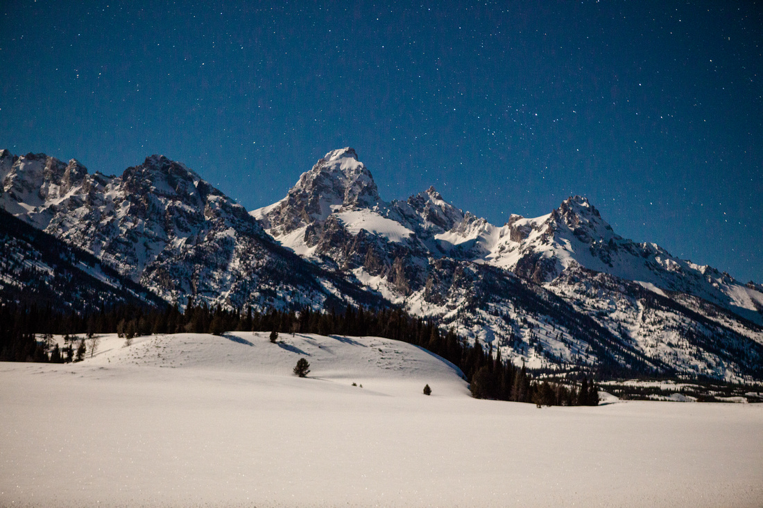 Teton Mountains in Jackson Wyoming