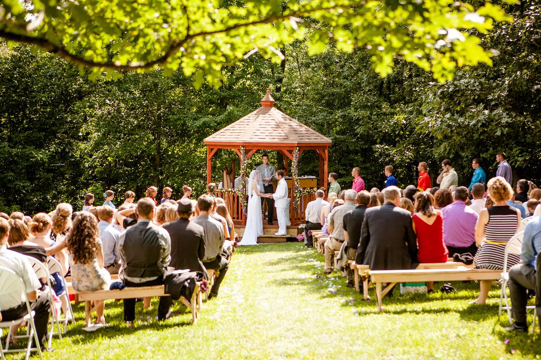 bride and groom Gazebo wedding