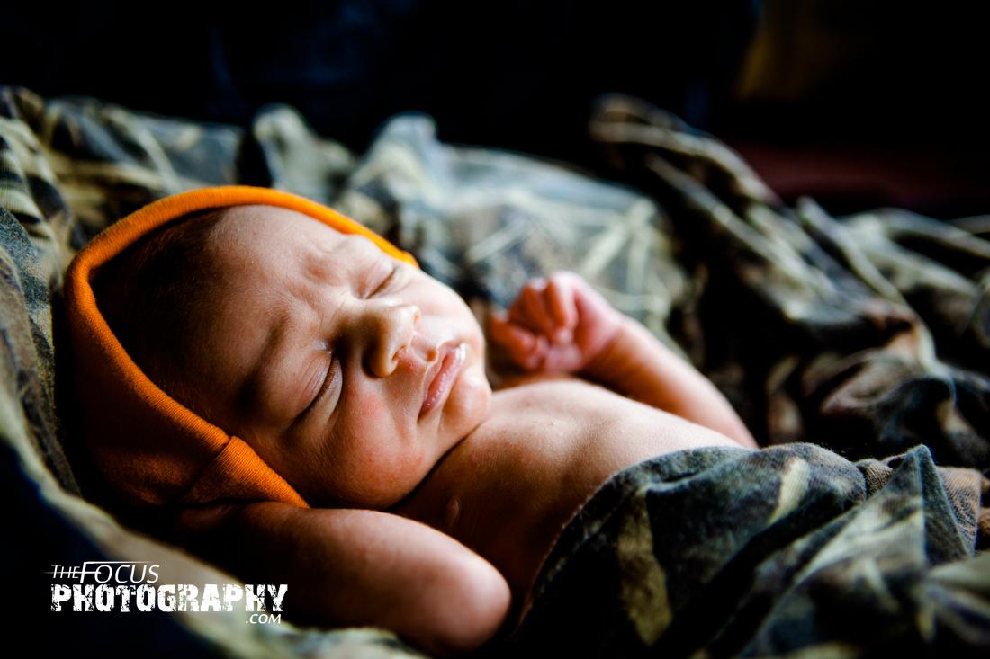 Newborn baby camo